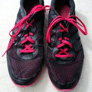 Adidas Black / Pink Running Shoes Size 10 EUC